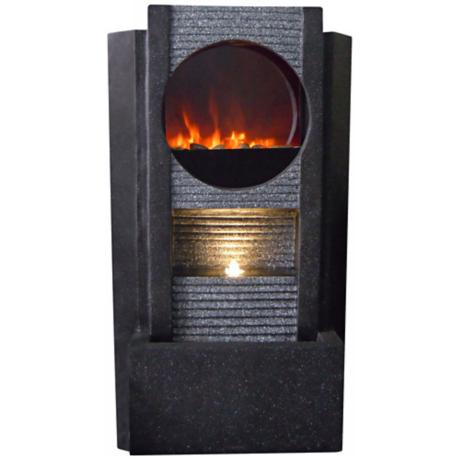 Ultra Fire Outdoor LED Fireplace Fountain