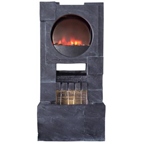 Modern Zen LED Fireplace Fountain