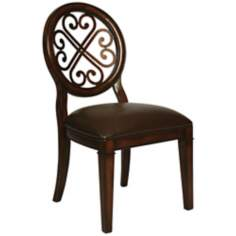 Traditional Devon Coast Distressed Cherry Side Chair