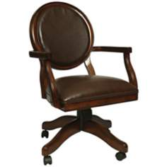 Devon Coast Leather Ridge Distressed Cherry Office Armchair