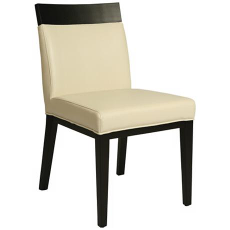 Elloise White Bonded Leather Side Chair