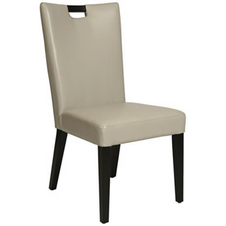 Epiphany Dove Grey Bonded Leather Side Chair