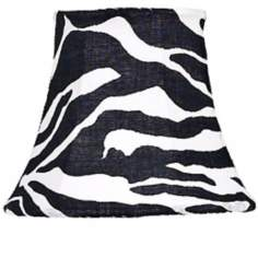 Zebra Print Bell Shade 3x5x4.25 (Clip-On)
