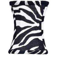 Zebra Print Hourglass Shade 3.75x3.75x5 (Clip-On)