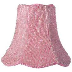Pink Beaded Scalloped Shade 2.75x5x4.75 (Clip-On)