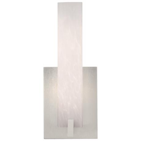 "Cosmo 12"" High White Frit and Satin Nickel LED Wall Sconce"