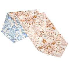 Marilyn Reversible Blue - Pink Floral King Bed Runner