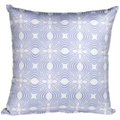 "Paisley 18"" Square Light Blue Lumbar Pillow"