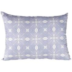 "Paisley 18"" Wide Light Blue Lumbar Pillow"