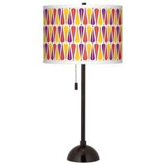 Hinder Giclee Glow Tiger Bronze Club Table Lamp