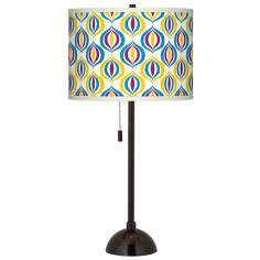 Scatter Giclee Glow Tiger Bronze Club Table Lamp