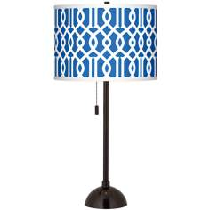 Chain Reaction Giclee Glow Tiger Bronze Club Table Lamp