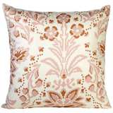 "Marilyn 18"" Square Light Pink Floral Throw Pillow"
