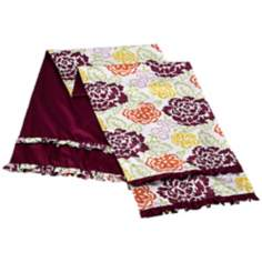 Emma Floral/Purple Reversible Queen Bed Runner
