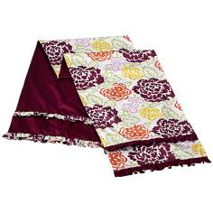 Emma Floral/Purple Reversible King Bed Runner