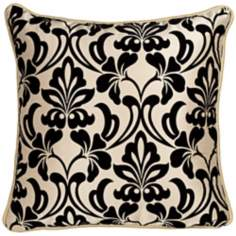 "Trinity 21"" Square Black and White Throw Pillow"