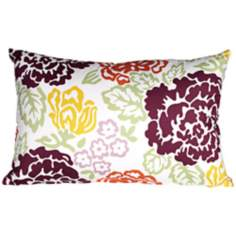 "Emma 20"" Wide Floral Lumbar Pillow"