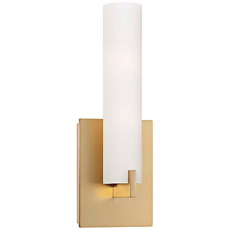 George kovacs 13 1 4 high ada compliant gold wall sconce for Ada compliant hallway