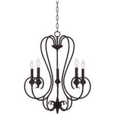 Channing 5-Light Bronze Scroll Chandelier