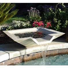 "36"" Square Sandstone Outdoor Stone Fountain"