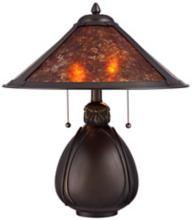 Nell Arts and Craft Pottery Mica Shade Table Lamp