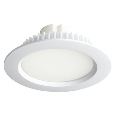 "6"" Recessed Lighting 13 Watt LED Retrofit Trim in White"