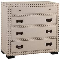 Natural Linen Nailed Hall Chest