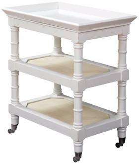 Harbortown Distressed White Tray Table (Y4794)
