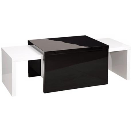 Zoe 3-Piece Lacquer Nesting Cocktail Tables