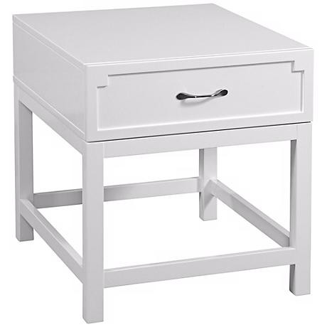 Zoe Rectangular Lacquer End Table