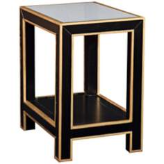 Vendom Ebony and Natural Wood End Table