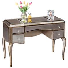Mirrored Gold Cabriole Leg Desk/Vanity