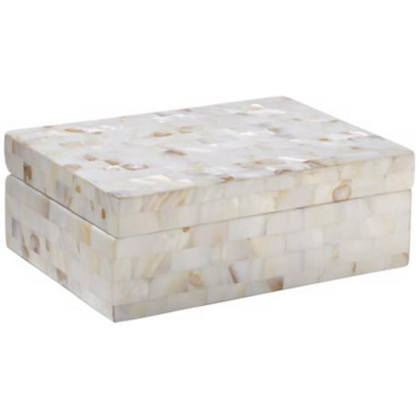White and Pink Mother of Pearl Box