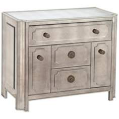 Regency Mirrored 3-Drawer Library Chest