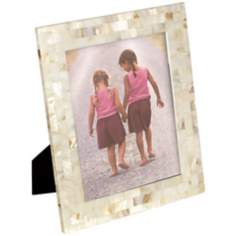 White and Pink Mother of Pearl Large Photo Frame