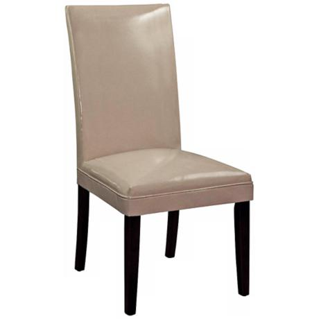 Khaki Bonded Leather Classic Parson Chair