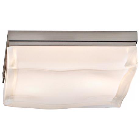 "Tech Lighting Fluid Nickel 9"" Square Ceiling Light"