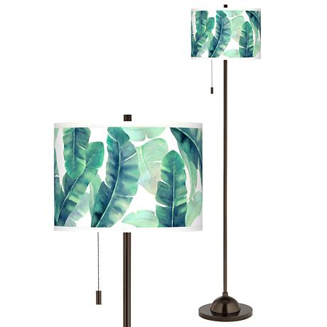 Guinea Giclee Glow Bronze Club Floor Lamp