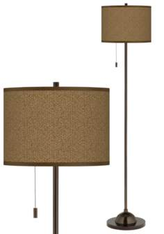 Khaki Giclee Glow Bronze Club Floor Lamp