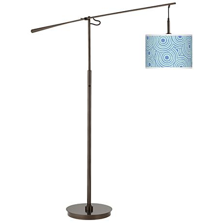 Circle Daze Giclee Glow Bronze Balance Arm Floor Lamp