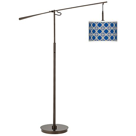Four Corners Giclee Glow Bronze Balance Arm Floor Lamp