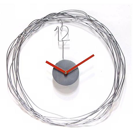 "Wire Transfer 14"" Round Metal Wire Wall Clock"