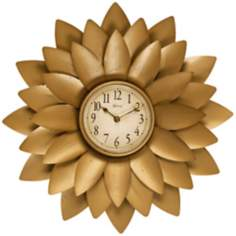 "Midas 20"" Round Petal Gold Wall Clock"