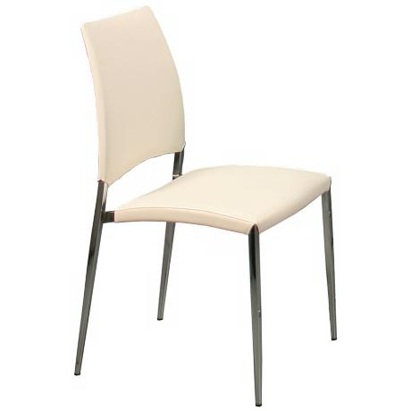 Ferguson Ivory Faux Leather Side Chair
