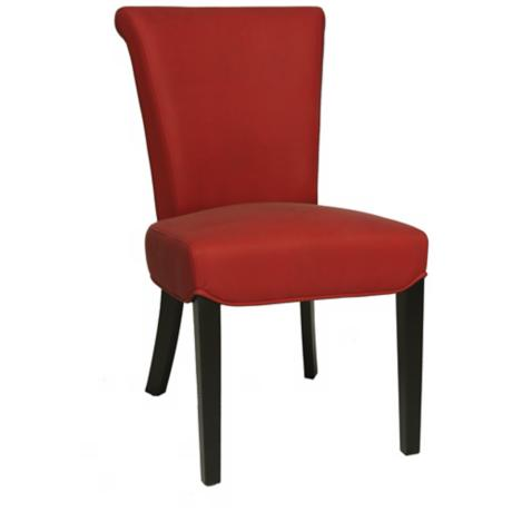 Hannah Red Bonded Leather Side Chair