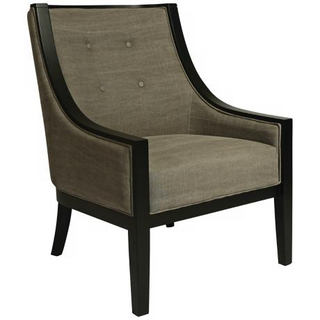 Eurowayne Gray Linen Club Chair