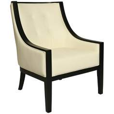 Eurowayne White Leather Club Chair