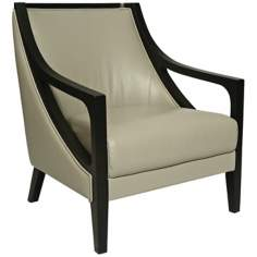 Fouquet Gray Leather Club Chair