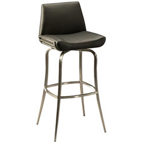 "Degorah 30"" High Black Bar Stool"