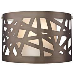 "Tech Lighting Ventana 11"" Wide Bronze Wall Light"